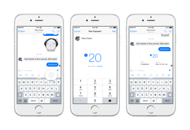 The pay feature on Facebook Messenger (photo courtesy of The Observer).