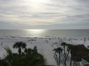 A view of the beach from our condo complex
