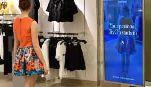 The Memory Mirror at select Neiman Marcus locations captures images and video of everything tried on so customers can see outfits side-by-side and in a 360 degree view.