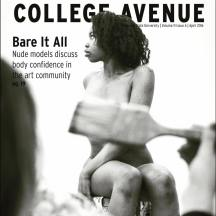 Our content production process was heavily focused on the web and our best stories from the web, both in concept and analytics, were selected for the print edition. Visuals became heavily emphasized as well, which included more photo stories being featured, like on the April 2016 cover, featuring nude models from the art department.