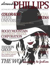 Visual resume, fall 2014