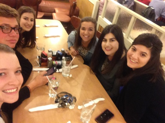 Post-liturgy IHOP with the squad.