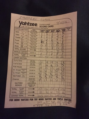 The Steamboat Classic official scorecard.