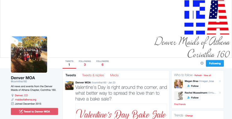 The banner incorporated into our official Twitter page.