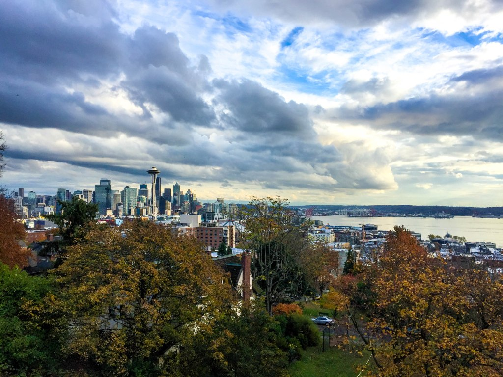 The highlight of the trip for me was Kerry Park. On a clear day, you can see the Space Needle among the rest of the dowtown skyline, Mt. Rainier and out into Puget Sound. Kerry Park is in the Queen Anne neighborhood of Seattle, just north of the Seattle Center.