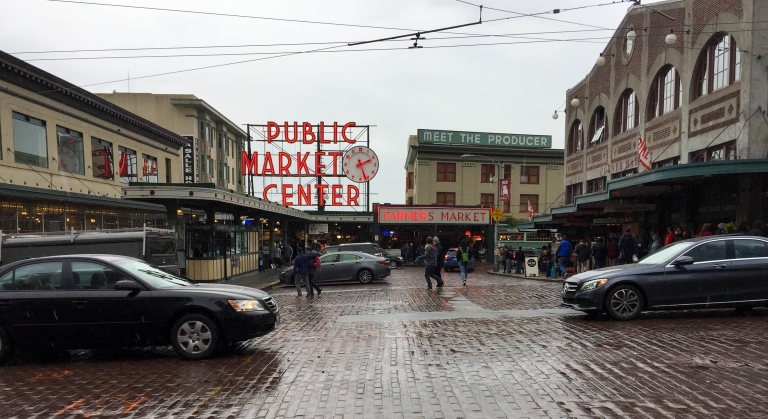 Pike Place Public Market is one of the oldest and largest open air market in Seattle, opening in 1907. The market is home to local craft and food vendors, selling a variety of different products. The market is known for their selling of fresh fish that can be bought and shipped worldwide. Pikes Place is also home to the Gum Wall, where people from all over the world come and stick their gum on it.